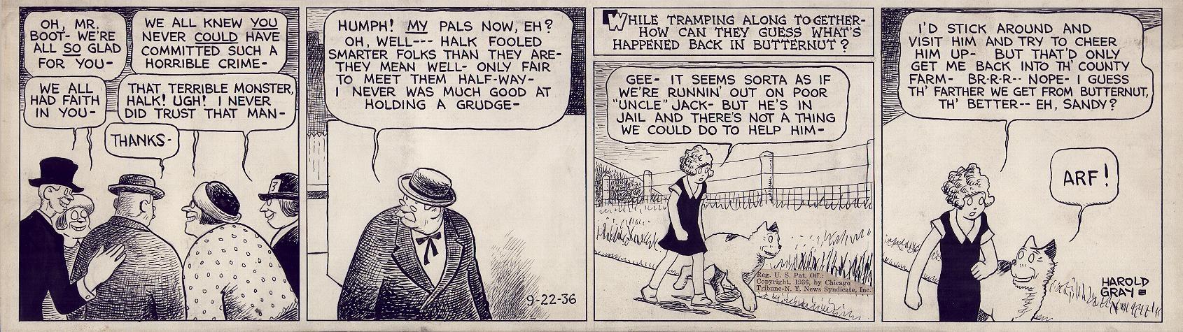 Little Orphan Annie, de  Harold Gray, à partir de 1924